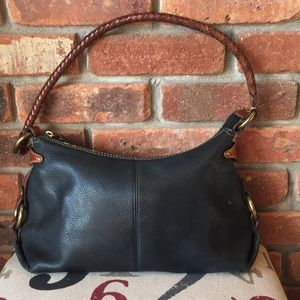 Fossil Vintage Black and Brown Purse